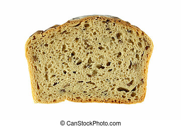 slice of wholemeal bread with seeds