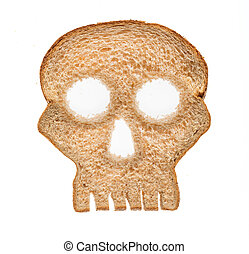 Slice of wholewheat bread in shape of skull - Skull shaped ...