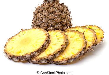Slice Ripe Pineapple Fruit