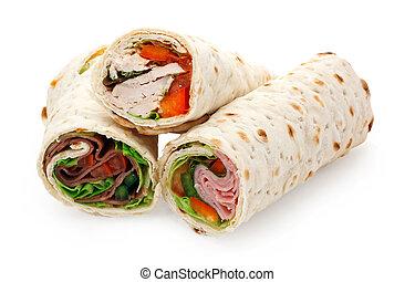 sliced, легкий, wraps, обед