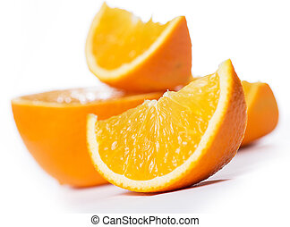 Sliced and whole oranges - Some sliced and whole oranges...