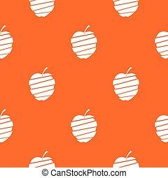 Sliced apple pattern seamless