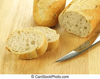 Sliced baguette