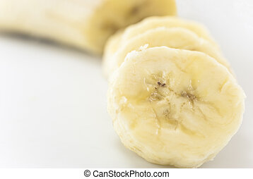Sliced Banana with Copy Space