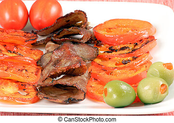 Sliced Beef And Veggies