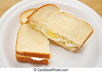 Sliced Boiled Egg Sandwich