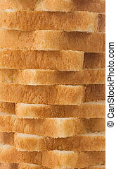 sliced bread as background