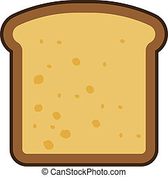 Sliced Bread Icon - Toasted bread slice vector
