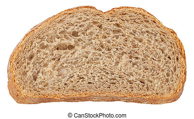 Sliced Bread isolated on white background. Top view