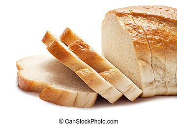 sliced bread isolated over white background