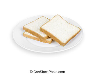 Sliced Bread on Plate