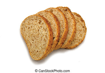 Sliced bread, isolated on white