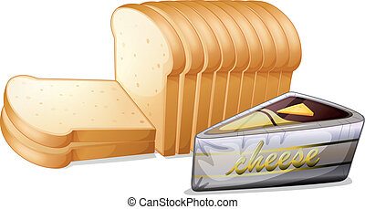 Sliced bread with cheese