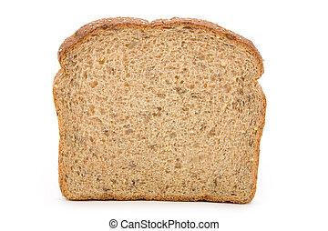 Sliced Brown Bread close up shot