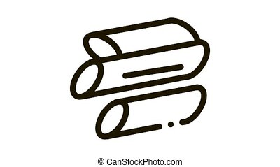 Sliced Canes Icon Animation. black Sliced Canes animated icon on white background