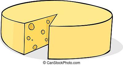 sliced cheese - vector illustration