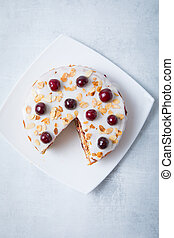 Sliced Cherry Cake Top