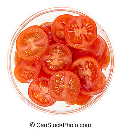 Sliced Cherry Tomatoes Isolated