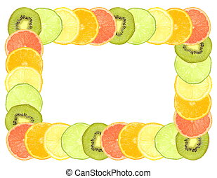Sliced citrus fruit frame