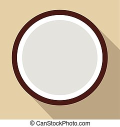 Sliced coconut flat icon