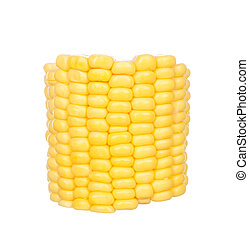 Sliced corn isolated on white