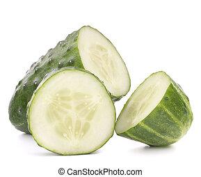 Sliced cucumber vegetable