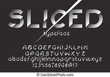Sliced font set - Sliced font. Original slice typeface for...