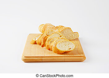 sliced French baguette
