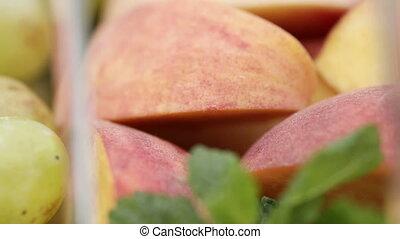 Sliced ??fruit on table