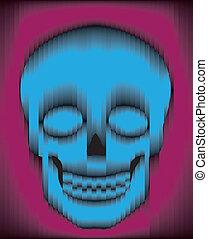 Sliced gradient skull - Sliced blue and purple gradient...