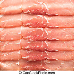 sliced jamon background