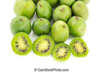 Sliced kiwi berries and some other