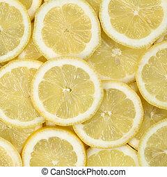 Sliced lemon fruits background