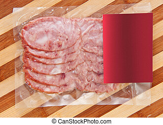 sliced meat packaged on plate