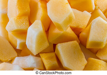 Sliced melon,cantaloupe