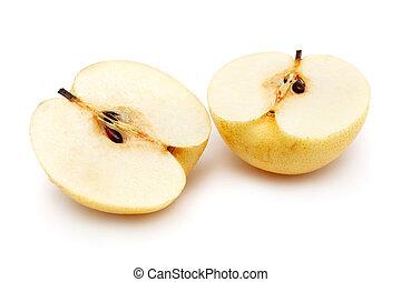 Sliced Nashi Pear