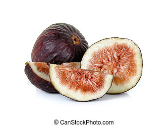 Sliced of fig isolated on the white background