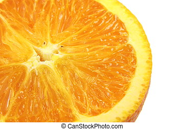 Navel orange - Sliced of Fresh Navel orange on white...