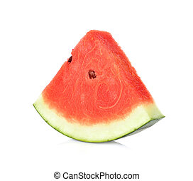 Sliced of watermelon on white background.