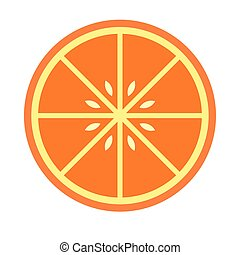 Sliced orange flat icon