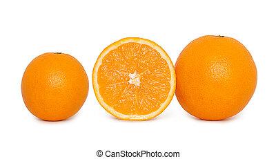 Sliced orange fruit isolated