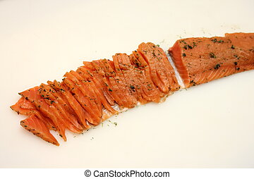 Sliced ??Pickled Salmon