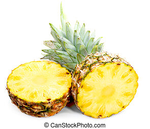 Sliced Pineapple - Pineapple isolated on white background