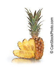 Sliced Pineapple - Sliced pineapple isolated on white ...