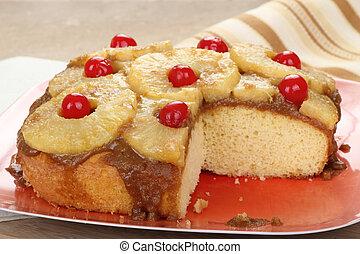 Sliced Pineapple Upside Down Cake