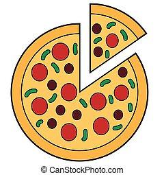 Sliced Pizza Doodle