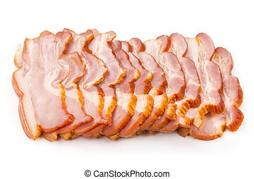 Sliced pork ham bacon
