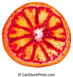 sliced red orange close up