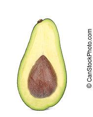 Sliced ripe avocado.