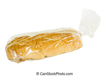 Sliced Rustic French Bread In Plastic Bag - Sliced rustic ...
